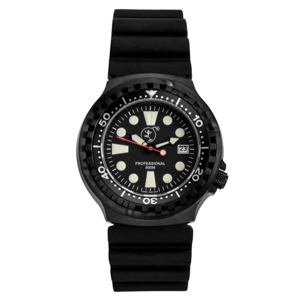 Professional 500 black | Rubber Strap