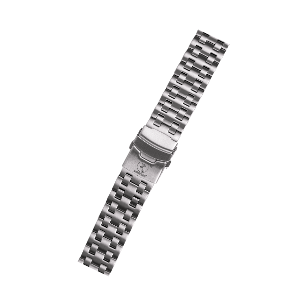 Edelstahlarmband Silber 22mm für BT25