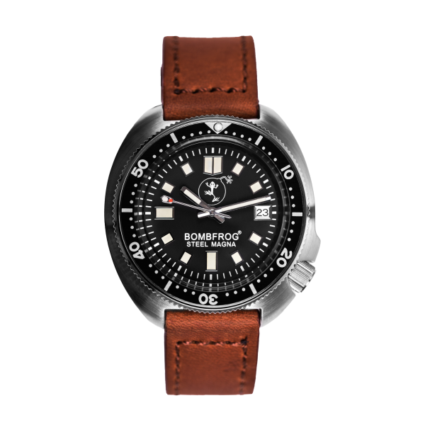 Steel Magna | Genuide leather strap