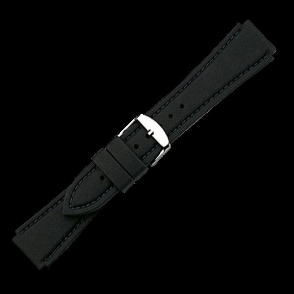 Silikonarmband Schwarz | 20mm