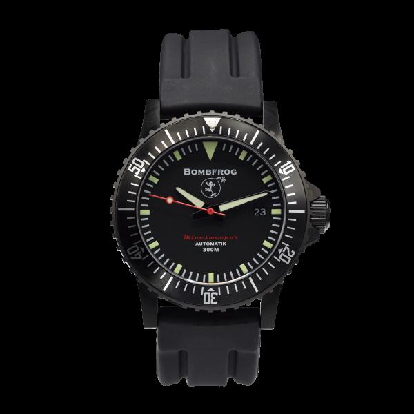 Minesweeper Herren Taucheruhr Black mit Neopren-Uhrenarmband