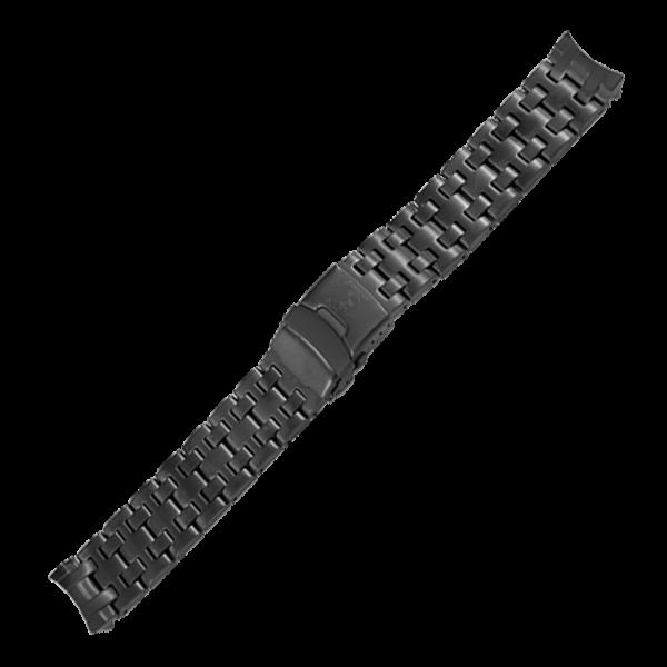 Edelstahlarmband Schwarz 22mm für BT25