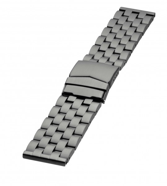 Edelstahlarmband Typ3 Schwarz 24mm