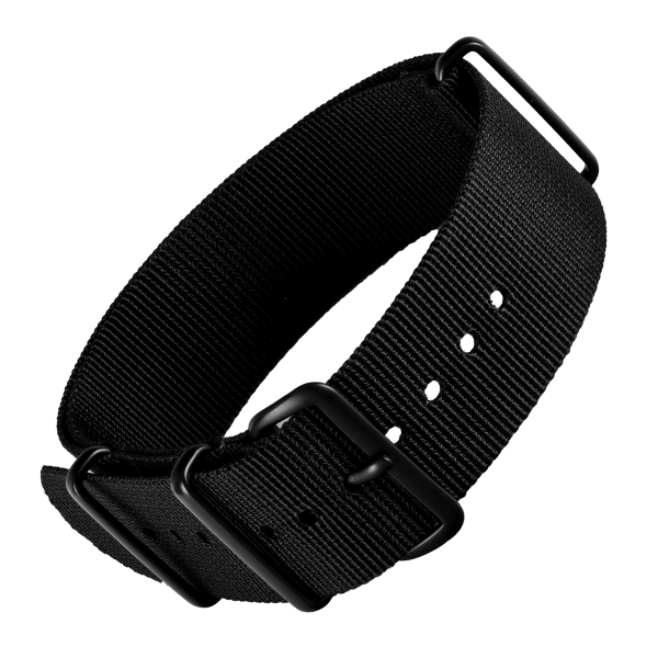 NATO Strap black basic | 22mm