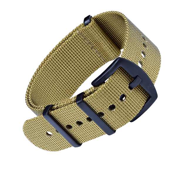NATO Strap Khaki with black buckle | 24mm