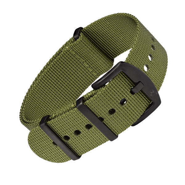 NATO Strap olive with black buckle | 24mm