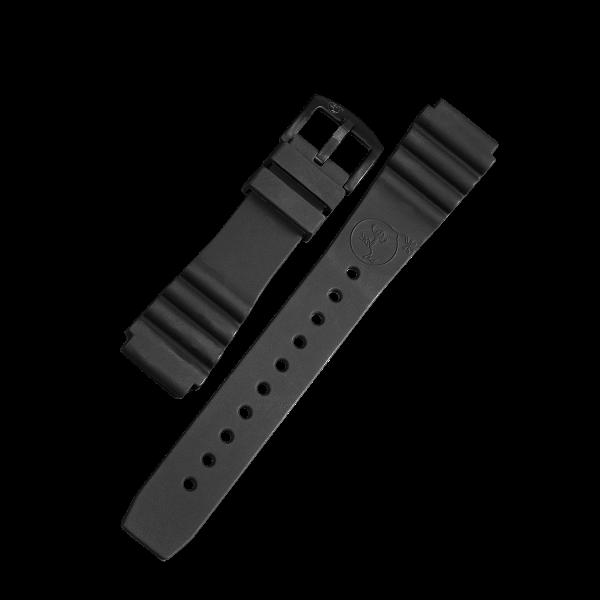 Silikonarmband Taucher schwarz | 22mm