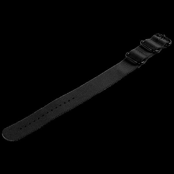 Textil Uhrenarmband 24 mm schwarz Armband für Armbanduhren