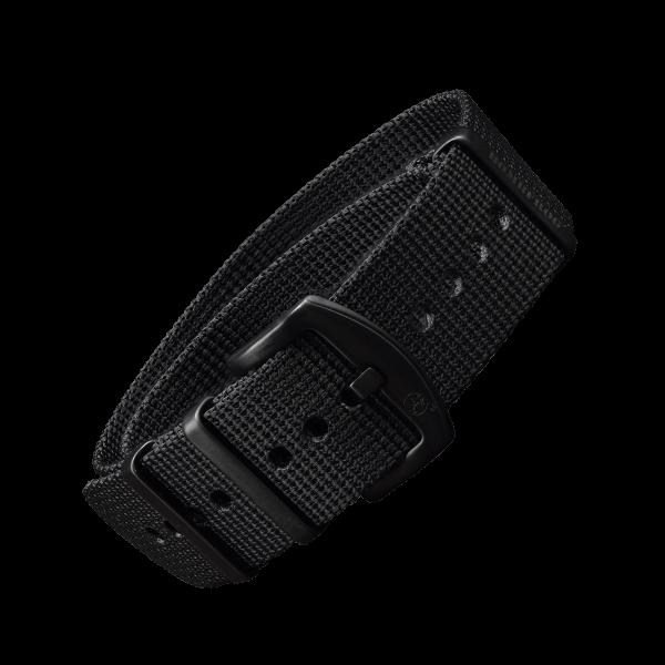 NATO Armband Schwarz mit schwarzer Dornenschließe | 22mm